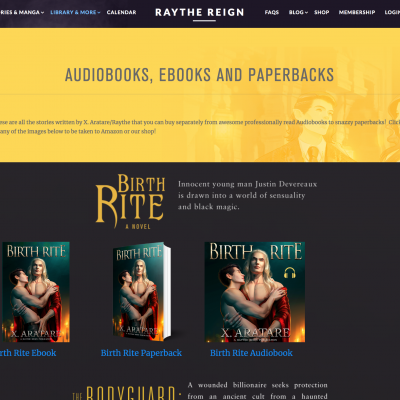 Ebooks, Paperbacks and Audiobooks